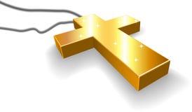 金黄的耶稣受难象 库存图片