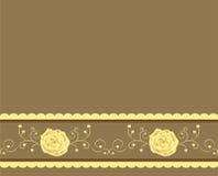 金黄的背景上升了 免版税库存照片