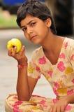 金黄的苹果 库存照片