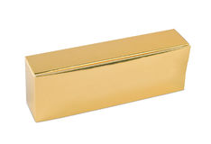 金黄的配件箱 图库摄影