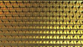金黄的金块 现实行动背景 股票视频