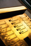 金黄的门铃 免版税库存图片