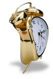 金黄的闹钟 库存图片