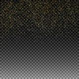 金黄的雨 在被隔绝的背景的金黄闪烁纹理 金黄五彩纸屑爆炸  设计要素例证图象向量 也corel凹道例证向量 皇族释放例证