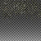 金黄的雨 在被隔绝的背景的金黄闪烁纹理 金黄五彩纸屑爆炸  设计要素例证图象向量 也corel凹道例证向量 向量例证