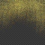 金黄的雨 在被隔绝的背景的金黄闪烁纹理 金黄五彩纸屑爆炸  设计要素例证图象向量 也corel凹道例证向量 库存例证