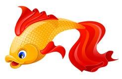 金黄的鱼 向量例证