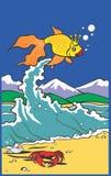 金黄的鲤鱼 免版税库存图片