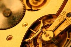金黄的齿轮 库存图片