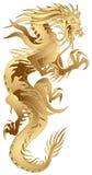 金黄的龙 向量例证