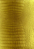 金黄皮革爬行动物纹理 免版税库存图片