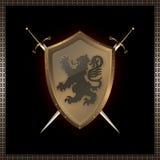 金黄盾剑 免版税库存照片