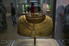 金黄盾在大英博物馆在伦敦 图库摄影