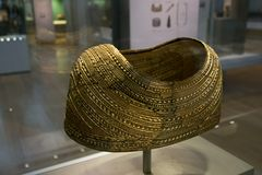 金黄盾在大英博物馆在伦敦 免版税库存照片