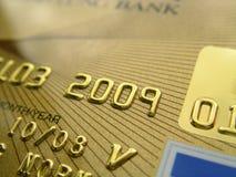 金黄看板卡的赊帐 免版税库存图片
