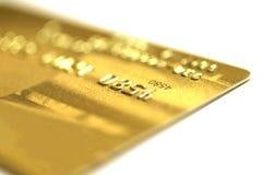 金黄看板卡的赊帐 免版税库存照片