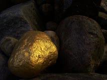 金黄石头 免版税库存图片