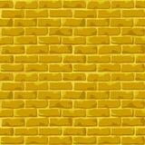 金黄砖墙纹理 免版税库存图片