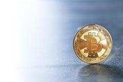 金黄硬币bitcoin 库存照片