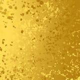金黄箔样式纹理摘要背景 免版税图库摄影
