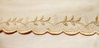 金黄纺织品 库存图片