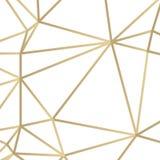 金黄线三角在白色背景的传染媒介例证 向量例证