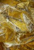 金黄织品 库存照片