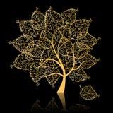 金黄结构树 库存例证