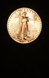金黄美国硬币的老鹰 免版税图库摄影