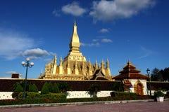 金黄老挝人stupa万象 库存照片
