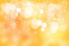 金黄背景的圣诞节 美好的摘要金黄欢乐b 库存照片