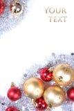 金黄背景的圣诞节 图库摄影