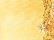 金黄背景的圣诞节 免版税库存图片