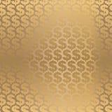 金黄背景的美元 库存照片