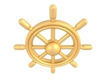 金黄船舵 库存照片