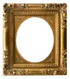 金黄艺术的框架 库存图片