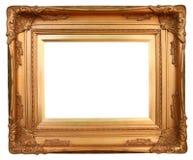金黄艺术的框架 免版税库存照片