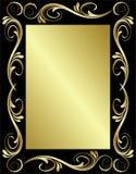 金黄花卉的框架 免版税库存图片