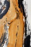 金黄茶黄 手画的背景 艺术品的片段 图库摄影