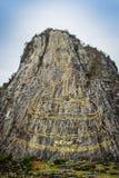 金黄菩萨激光雕刻了并且inlayed与在Khao Chee Ch的金子 免版税库存图片