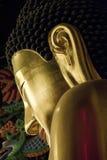 金黄菩萨雕象 库存照片