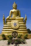 金黄菩萨雕象 库存图片