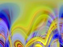 金黄蓝色桃红色紫色软的流体线几何背景、图表、抽象背景和纹理 皇族释放例证