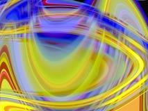 金黄蓝色桃红色软的流体线几何背景、图表、抽象背景和纹理 皇族释放例证