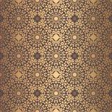 金黄蔓藤花纹样式 向量例证