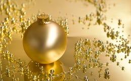 金黄装饰品 图库摄影