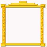 金黄装饰的框架 皇族释放例证