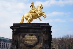 金黄车手德累斯顿,德国 免版税库存照片