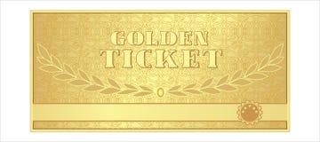 金黄金黄票的光泽,礼物,得奖的折扣,入场样式,装饰品, 皇族释放例证
