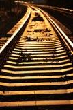 金黄铁路运输 免版税库存图片